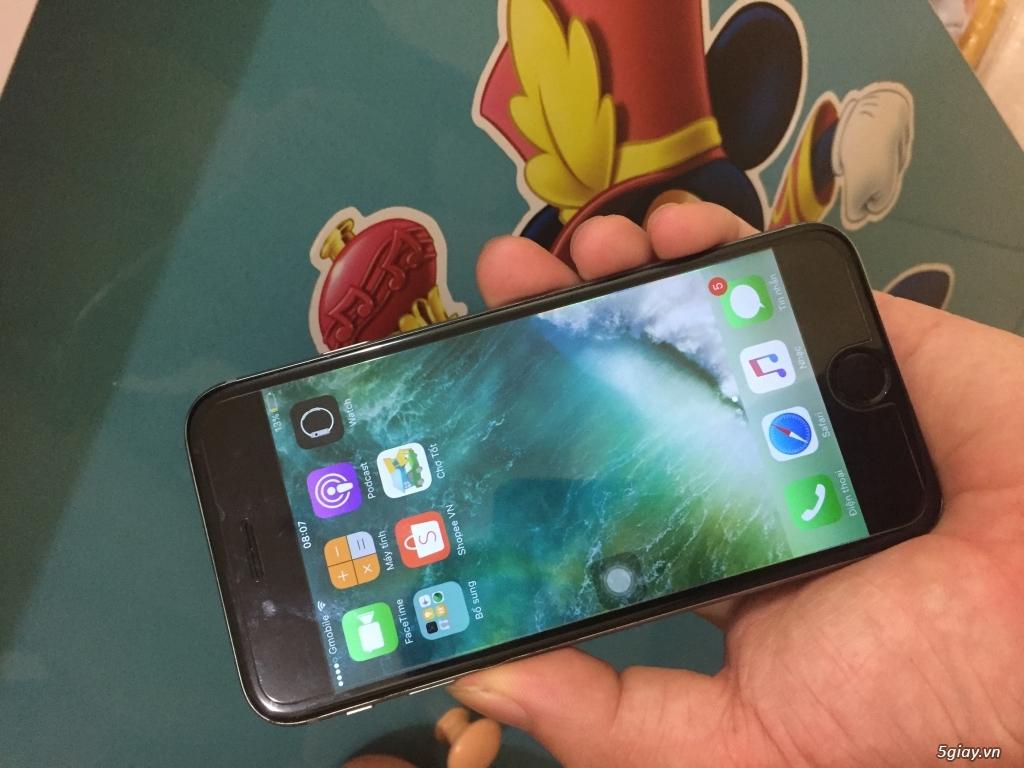 Iphone 6-16G,quốc tế,màu grey,không vân tay - 4