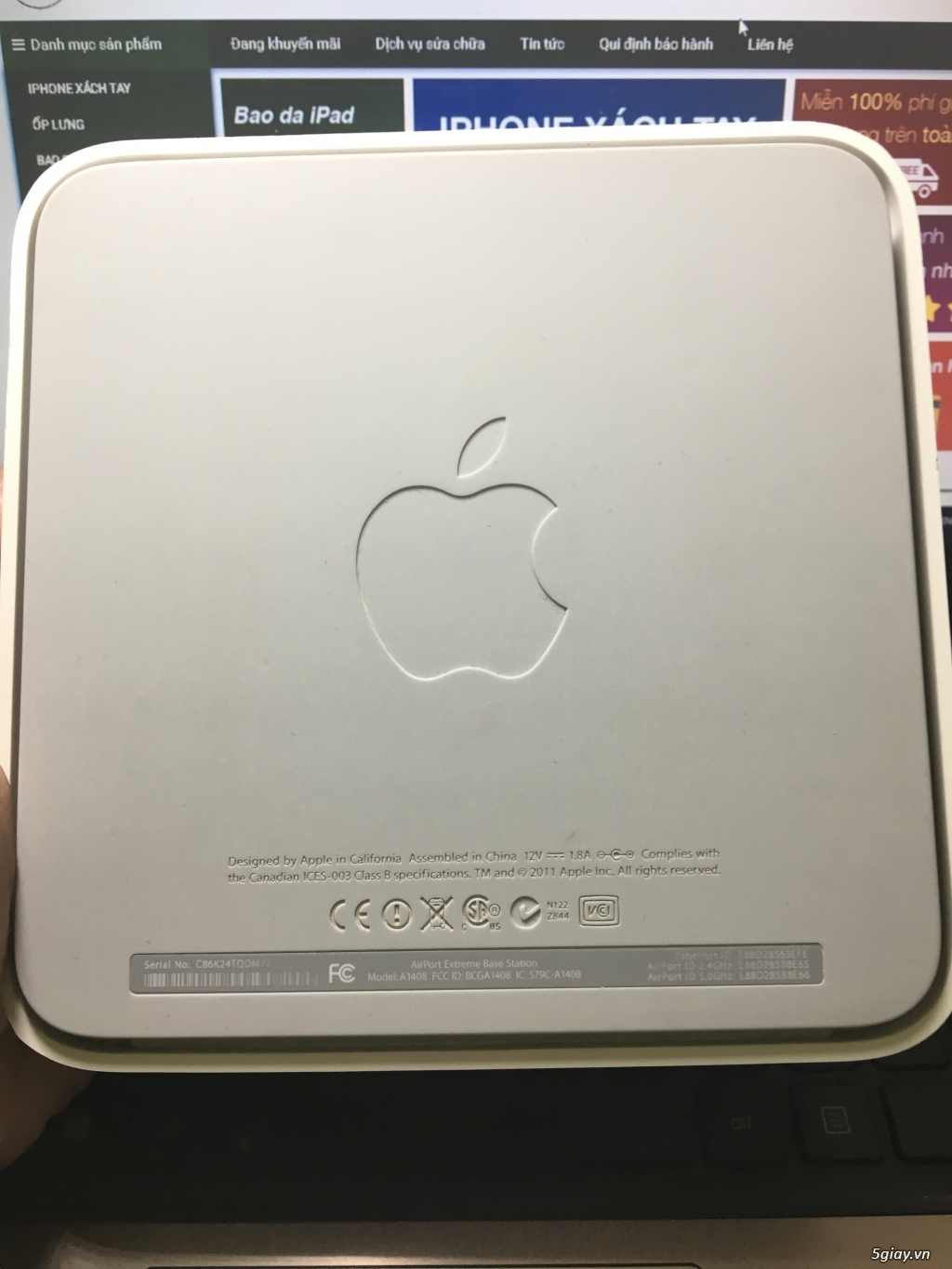 Thiết bị phát WIFI của Apple : Apple Airport Extreme - Airport Express - 23