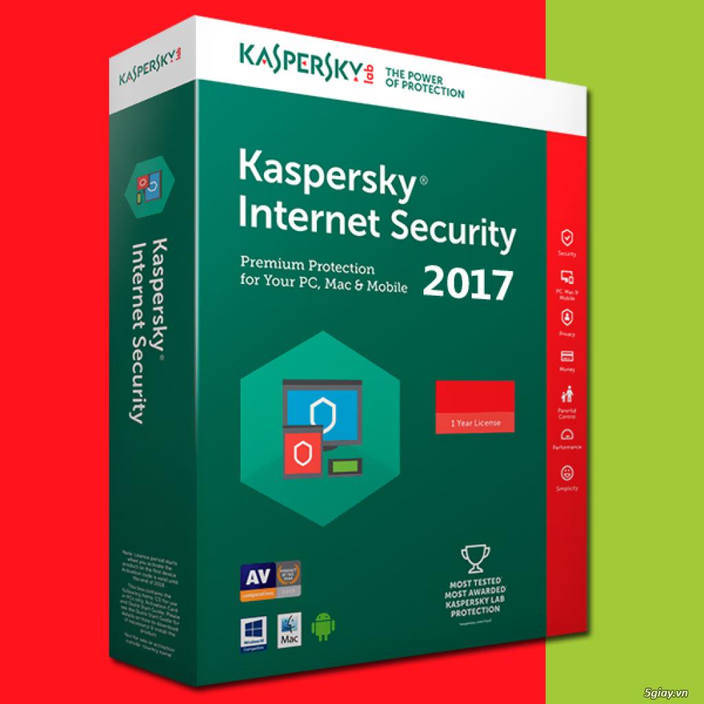 Bản Quyền Kaspersky Internet Security 2017 Giá Cũng Chỉ 90.000đ - 1