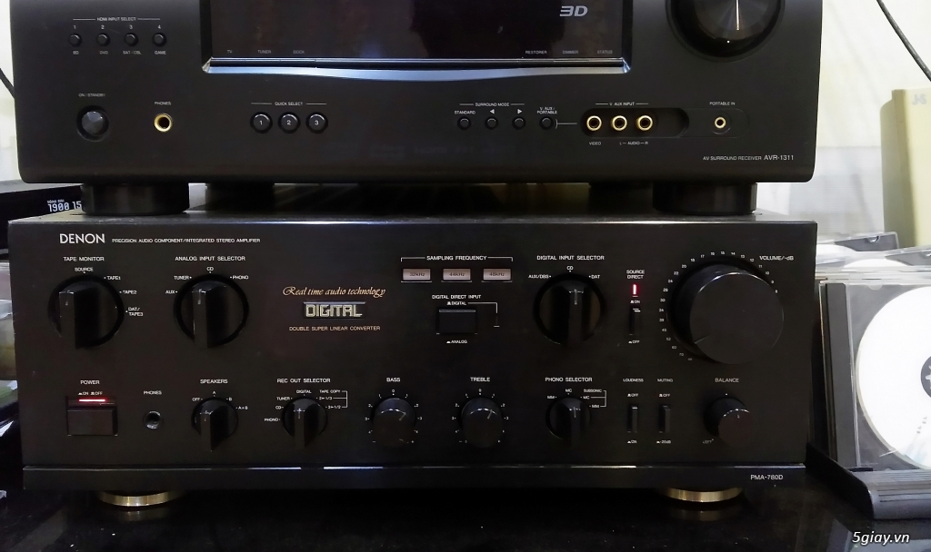 Loa AR, CDP NEC CD-620, Ampli Denon PMA-780D