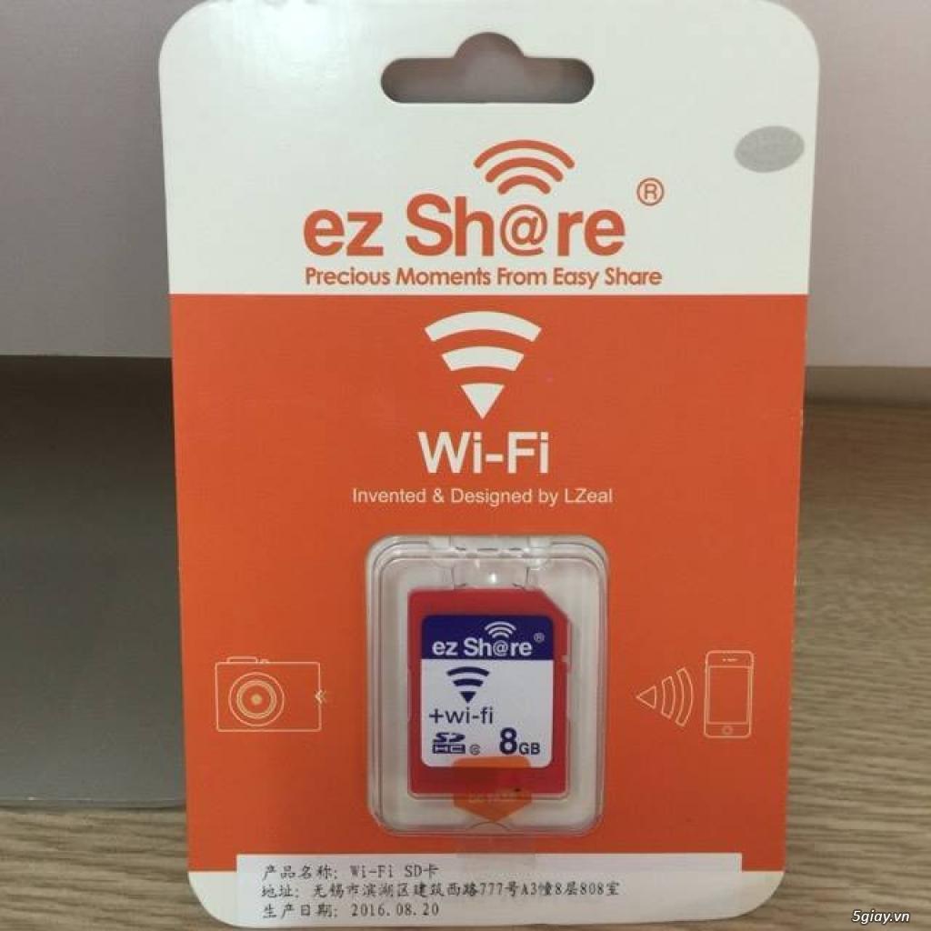 Thẻ nhớ EzShare Wifi SD 8,16,32 GB. chia sẻ ảnh ngay khi chụp và quay