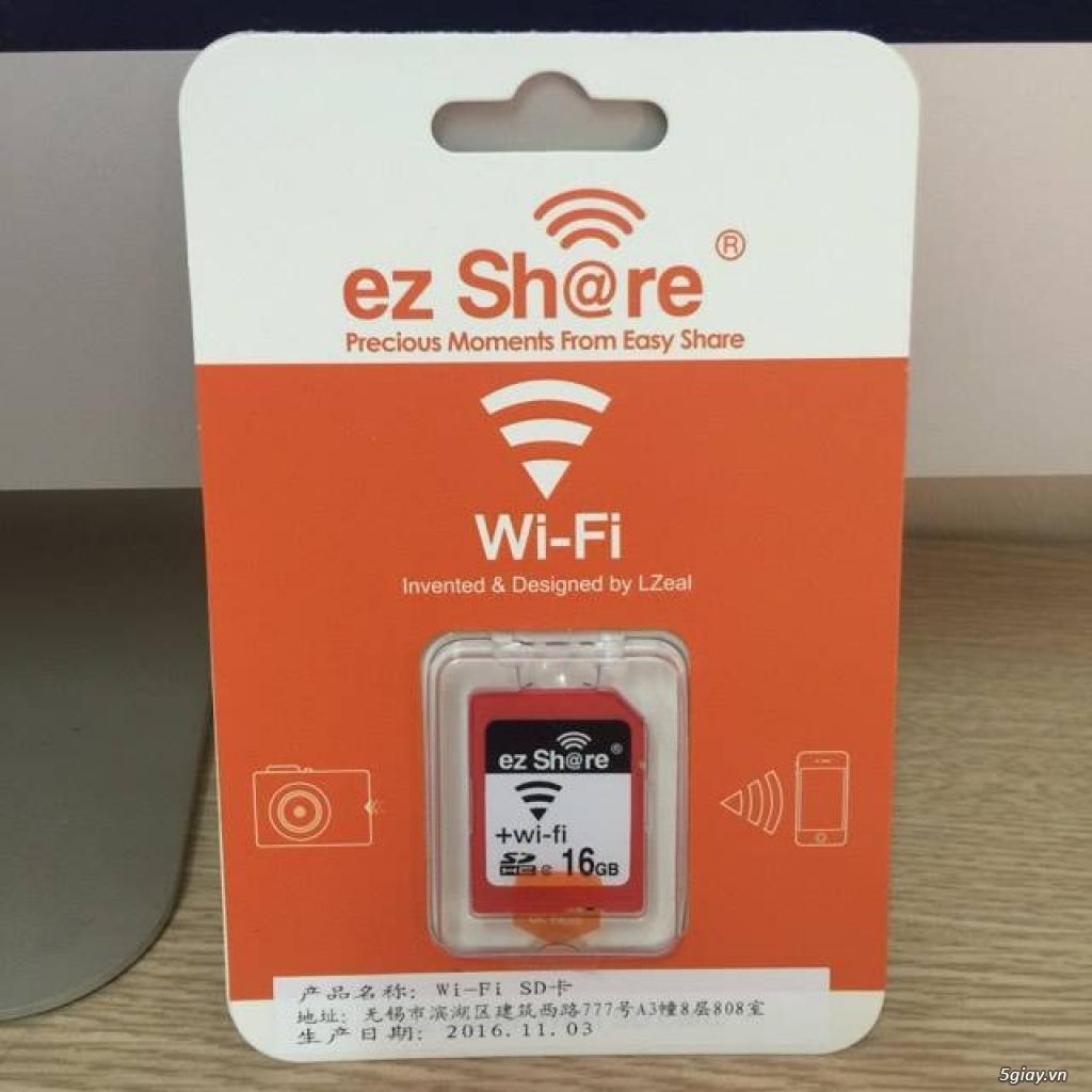 Thẻ nhớ EzShare Wifi SD 8,16,32 GB. chia sẻ ảnh ngay khi chụp và quay - 1