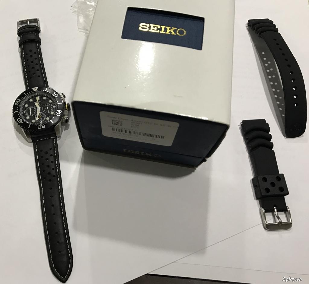 HCM Đồng hồ lặn năng lượng mặt trời Seiko Solar Chronograph Diver 200m - 1