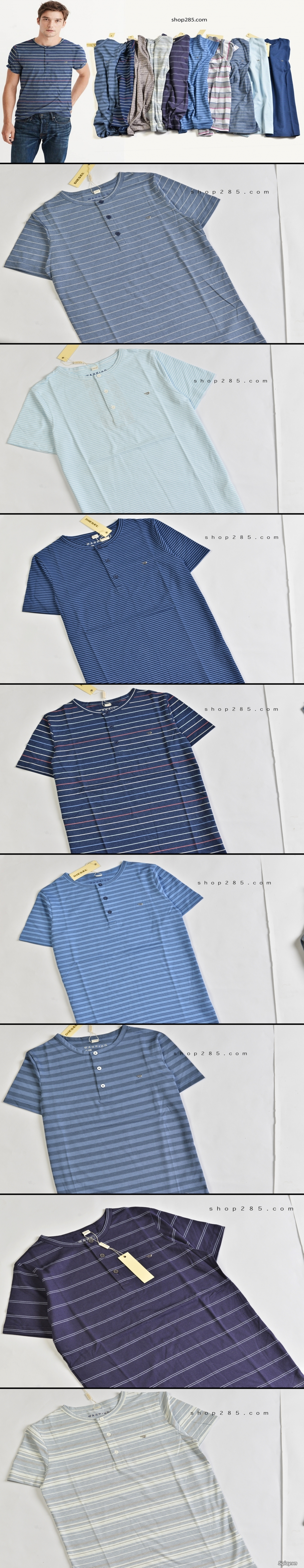 Áo thun Hollister VNXK,áo thun SuperDry VNXK ,áo A&F VNXK ,áo thun cổ tim thun láng - 16