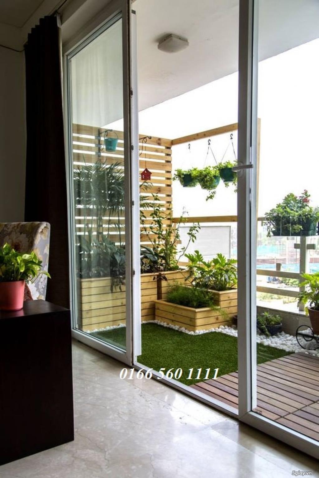 Dịch vụ trang trí hoa ban công, thiết kế ban công sân vườn tại Hà Nội - 9