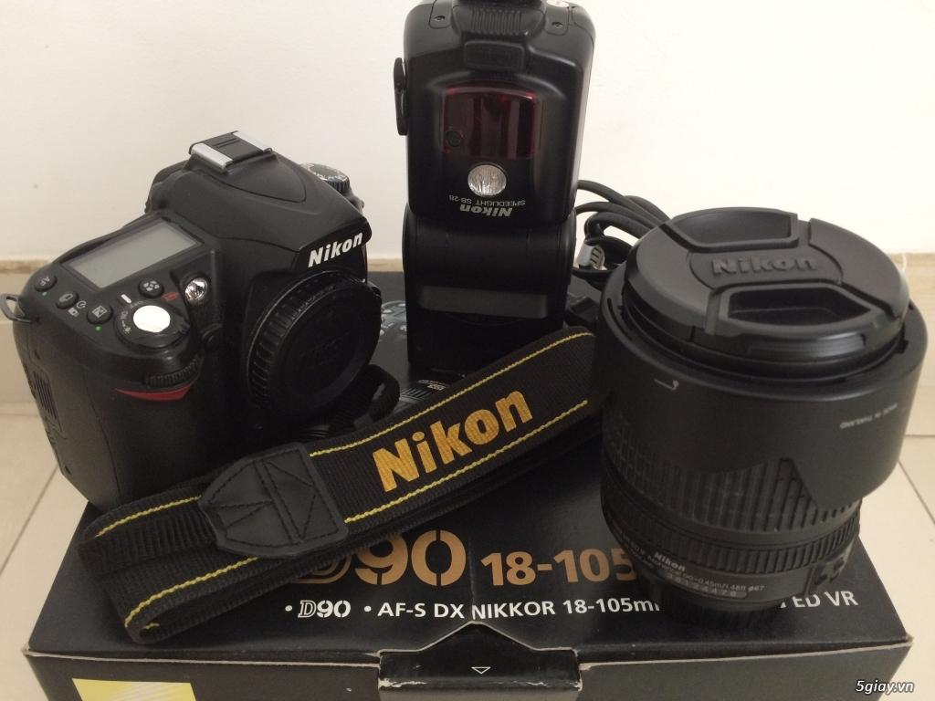 Thanh Lý D90 + kit + Flash Nikon SB-28 và một số phụ kiện