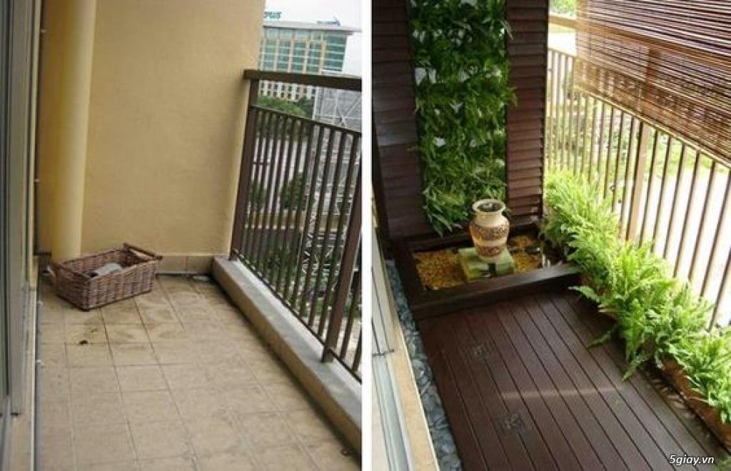 Dịch vụ trang trí hoa ban công, thiết kế ban công sân vườn tại Hà Nội - 6