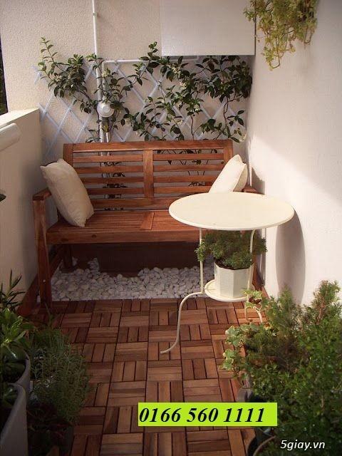 Dịch vụ trang trí hoa ban công, thiết kế ban công sân vườn tại Hà Nội - 7