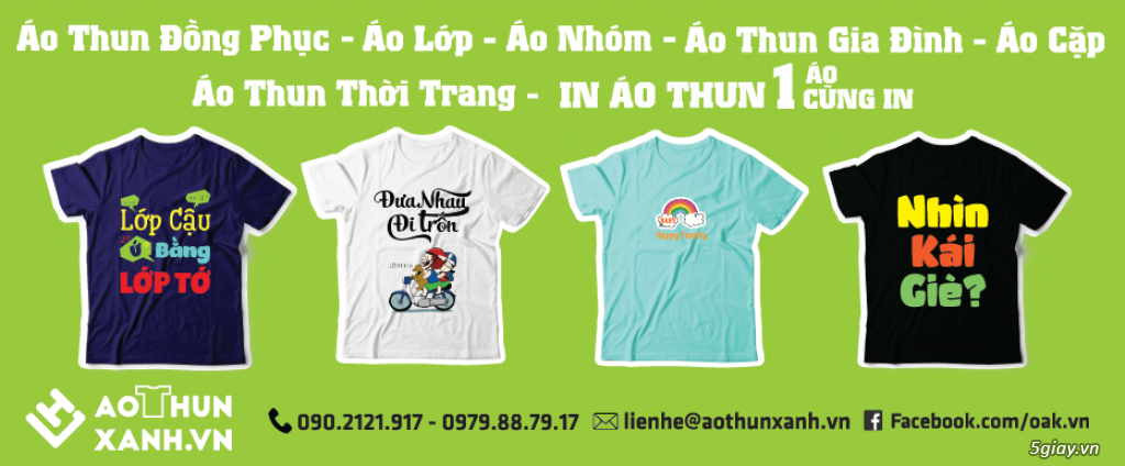 Aothunxanh.vn : Giải pháp áo thun đồng phục,áo nhóm,áo lớp số lượng ít