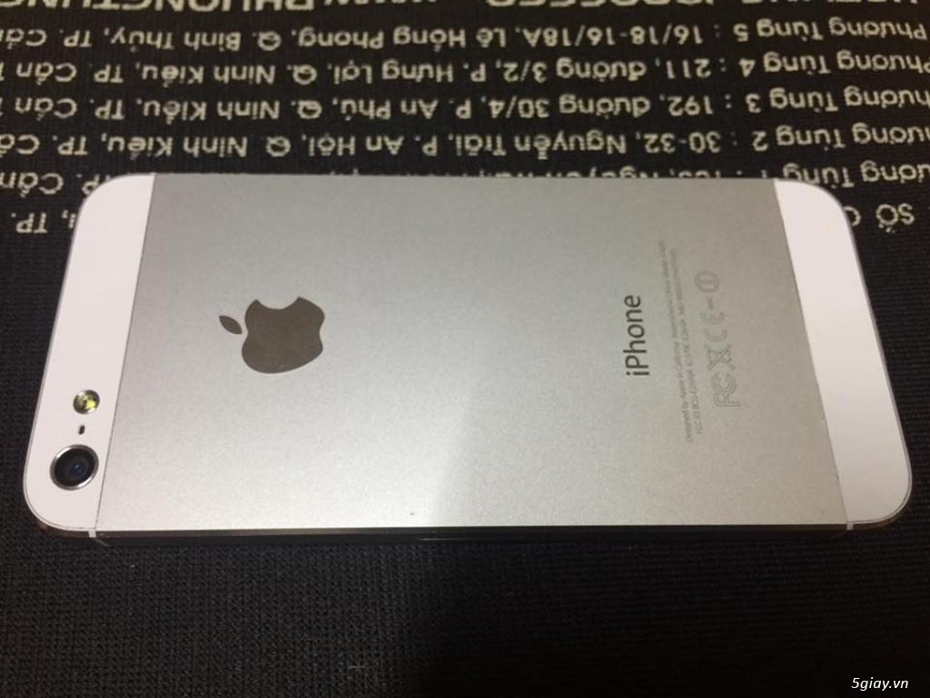 iphone 5 32gb trắng qtế zin đẹp 99% - 2