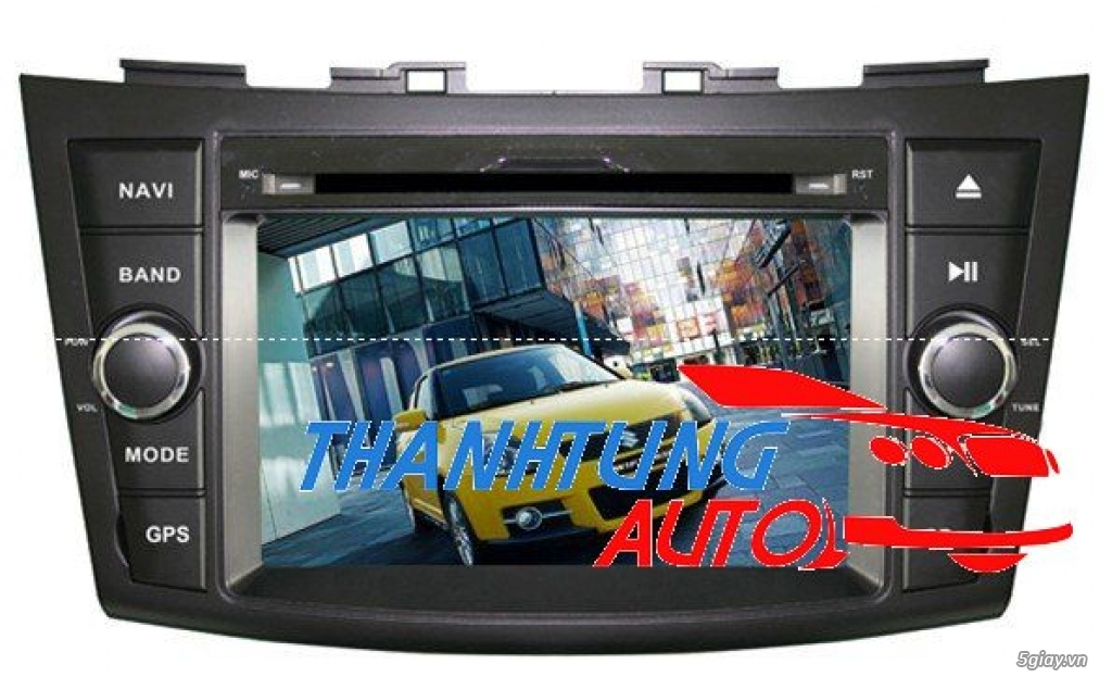 DVD liền màn hình cho xe Suzuki Swift 2013 GPS tặng Camerra lùi HD cao - 1