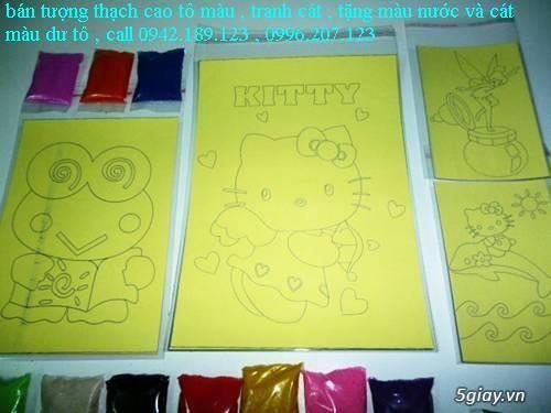 Bán Combo tranh rắc cát, tượng thạch cao tô màu, cho trẻ em tô màu - 8