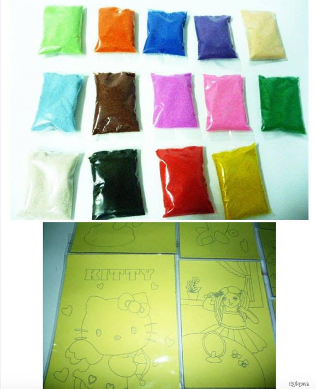 Bán Combo tranh rắc cát, tượng thạch cao tô màu, cho trẻ em tô màu