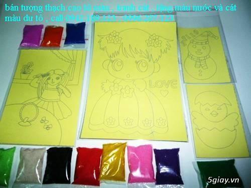 Bán Combo tranh rắc cát, tượng thạch cao tô màu, cho trẻ em tô màu - 10