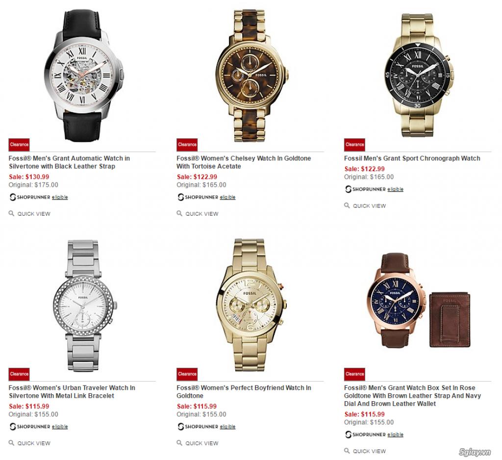 Order đồng hồ giá rẻ!!! Fossil, Guess, MK, Timex, MK, AK, AX ... - 12