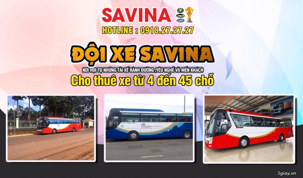 Cho thuê xe du lịch 16 chỗ, 45 chỗ tphcm | Savina - 7