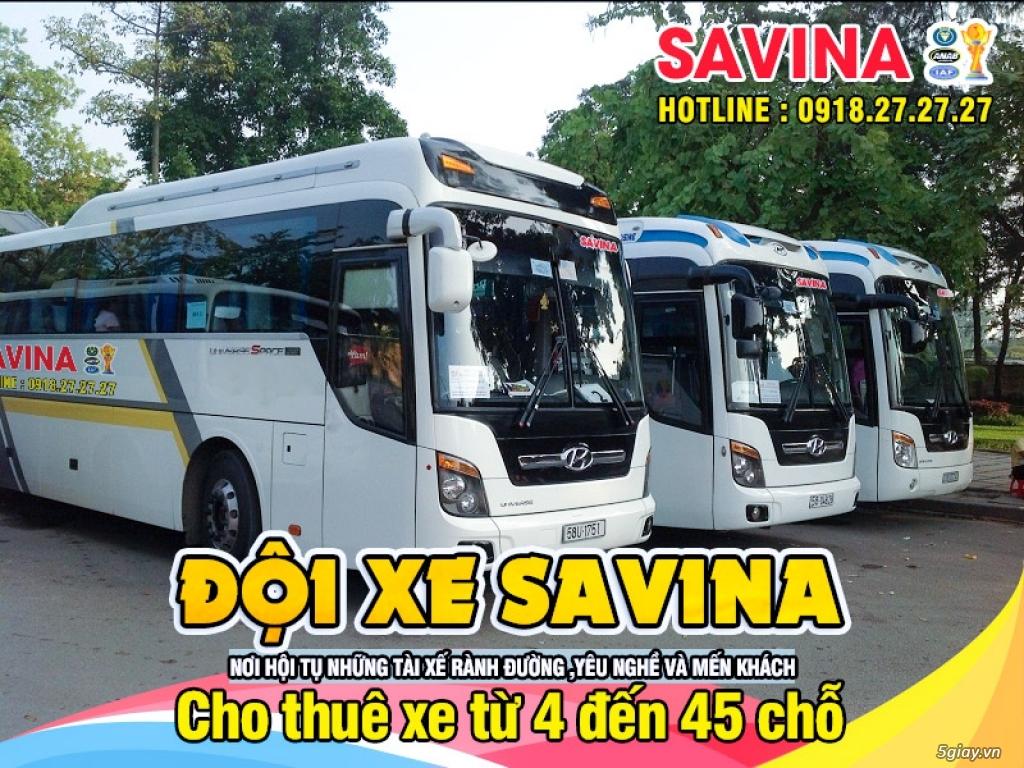 Cho thuê xe du lịch 16 chỗ, 45 chỗ tphcm | Savina - 11