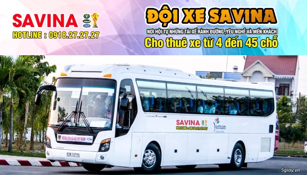 Cho thuê xe du lịch 16 chỗ, 45 chỗ tphcm | Savina - 16