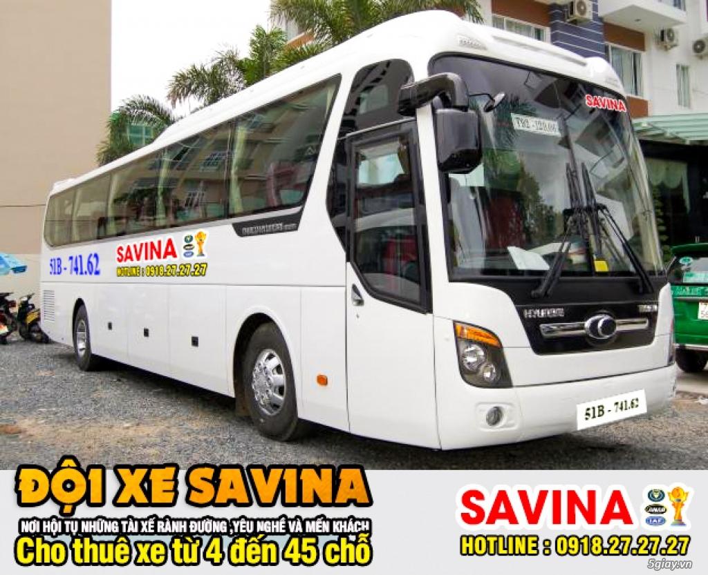 Cho thuê xe du lịch 16 chỗ, 45 chỗ tphcm | Savina - 5