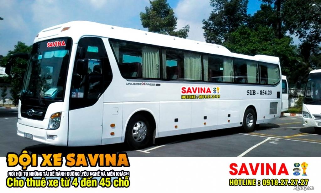 Cho thuê xe du lịch 16 chỗ, 45 chỗ tphcm | Savina - 4