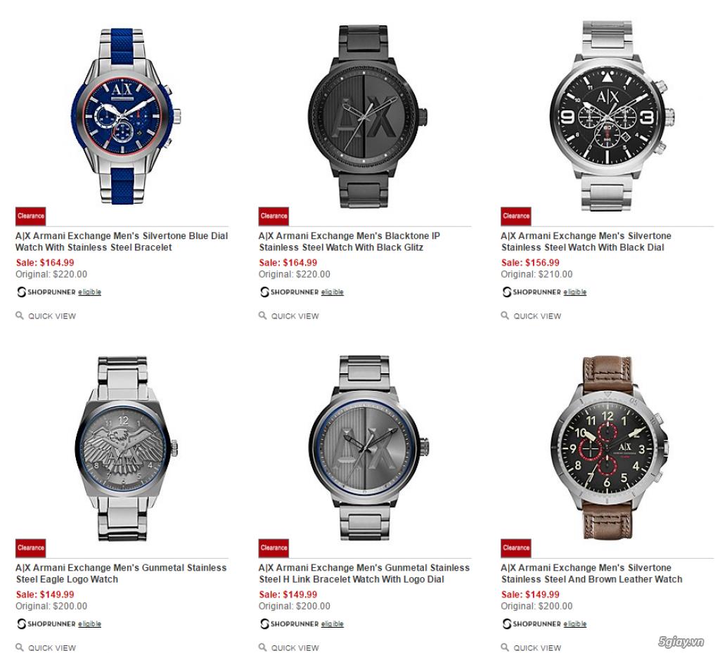 Order đồng hồ giá rẻ!!! Fossil, Guess, MK, Timex, MK, AK, AX ... - 8