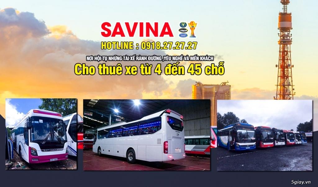 Cho thuê xe du lịch 16 chỗ, 45 chỗ tphcm | Savina - 8