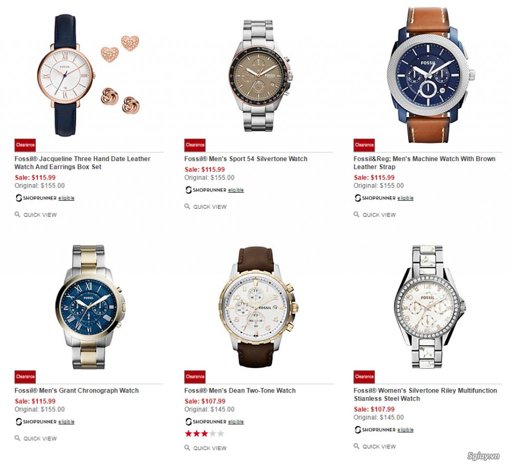 Order đồng hồ giá rẻ!!! Fossil, Guess, MK, Timex, MK, AK, AX ... - 11