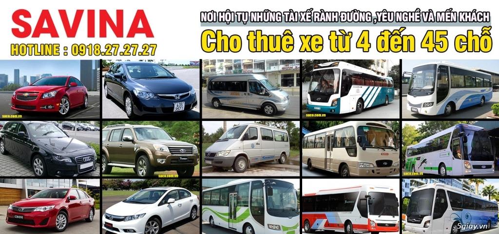 Cho thuê xe du lịch 16 chỗ, 45 chỗ tphcm | Savina - 2