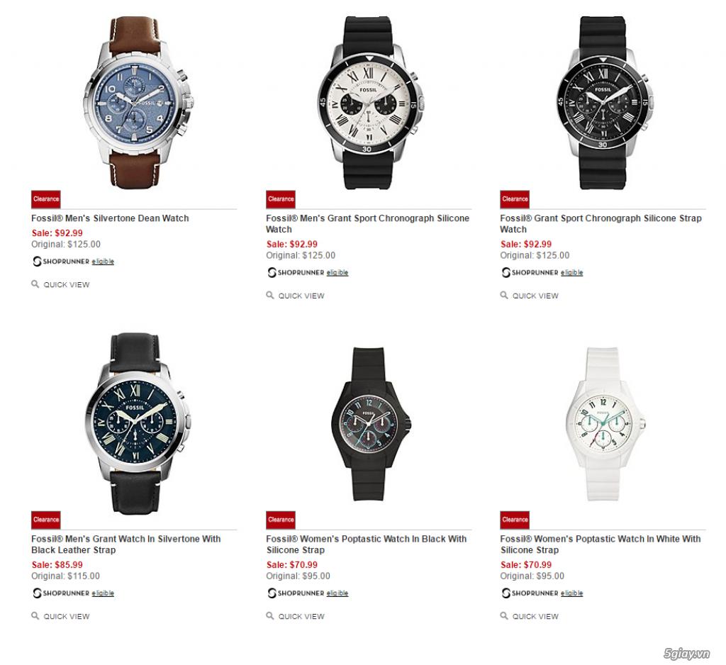 Order đồng hồ giá rẻ!!! Fossil, Guess, MK, Timex, MK, AK, AX ... - 10
