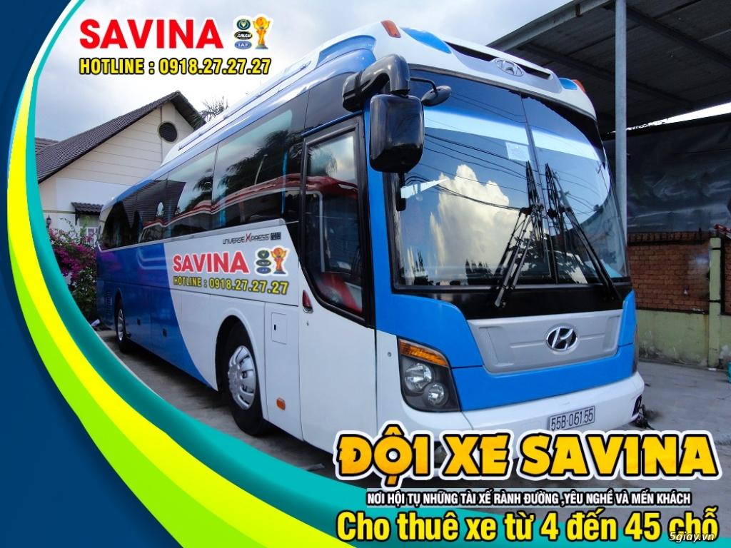 Cho thuê xe du lịch 16 chỗ, 45 chỗ tphcm | Savina - 14