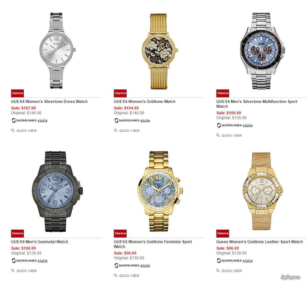 Order đồng hồ giá rẻ!!! Fossil, Guess, MK, Timex, MK, AK, AX ... - 24