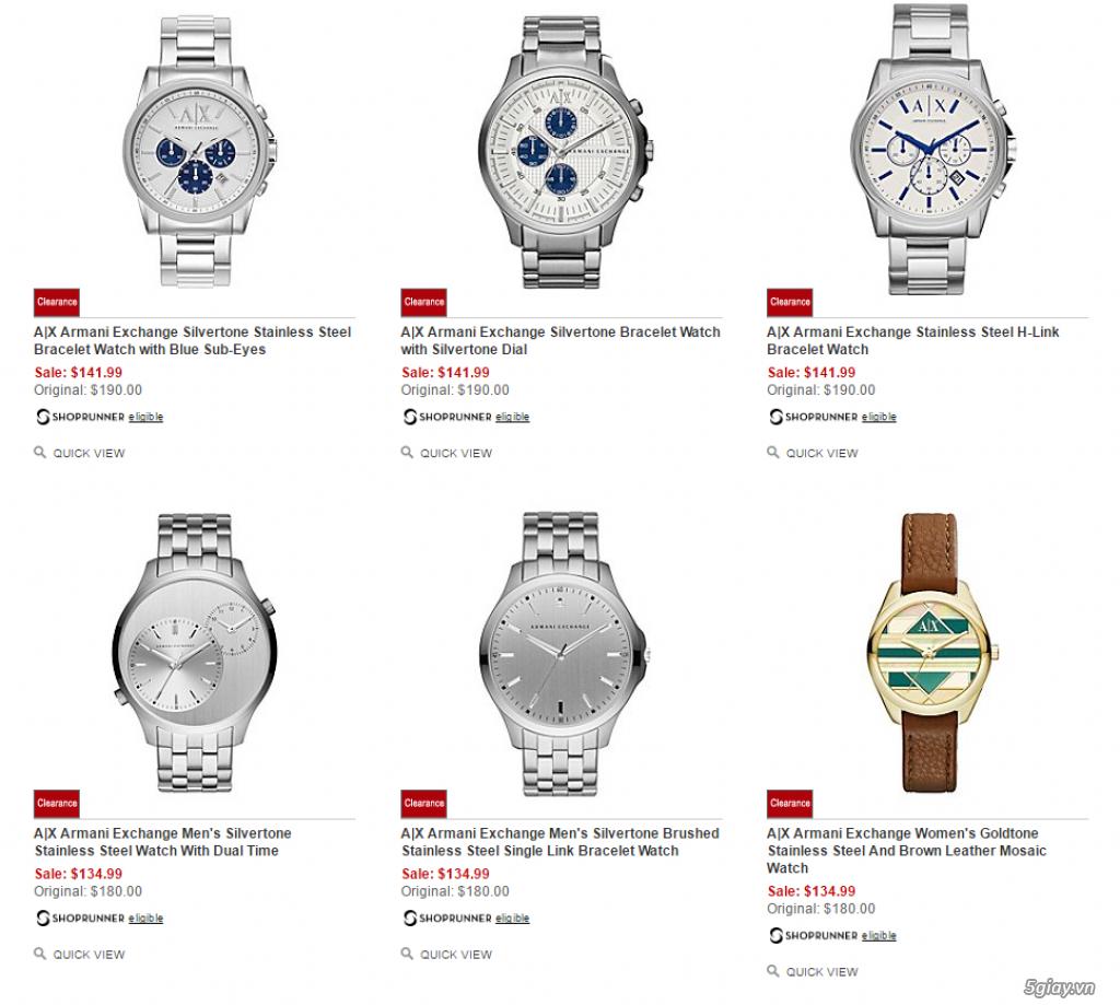 Order đồng hồ giá rẻ!!! Fossil, Guess, MK, Timex, MK, AK, AX ... - 9