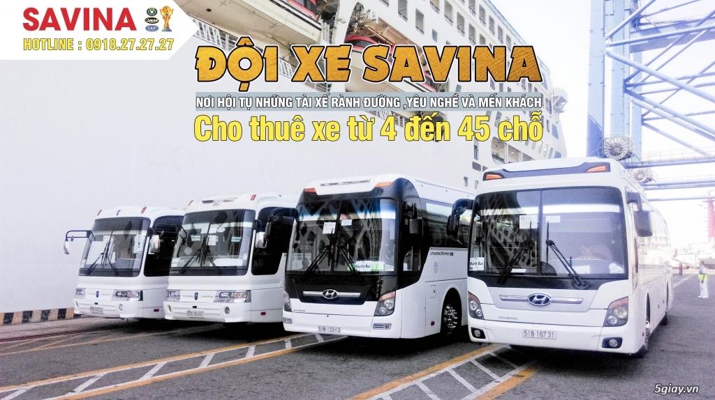 Cho thuê xe du lịch 16 chỗ, 45 chỗ tphcm | Savina - 9