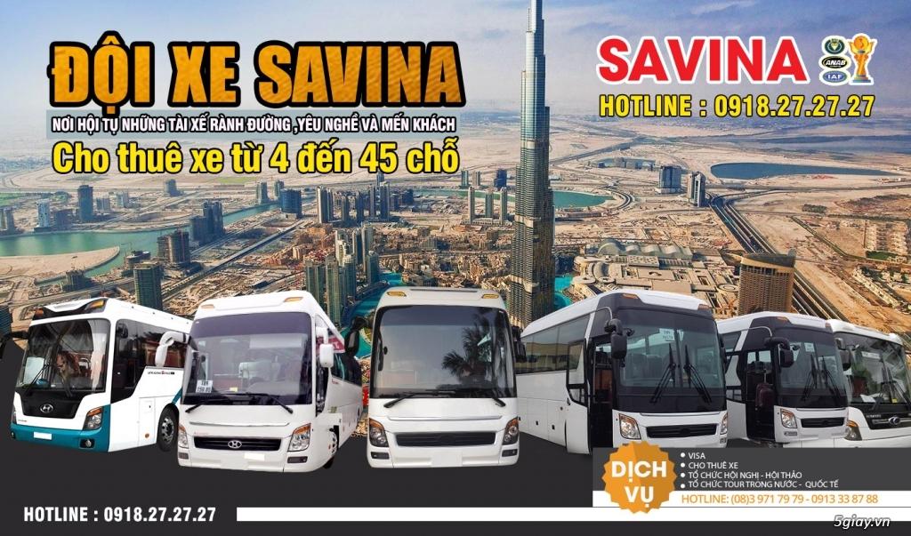 Cho thuê xe du lịch 16 chỗ, 45 chỗ tphcm | Savina - 1