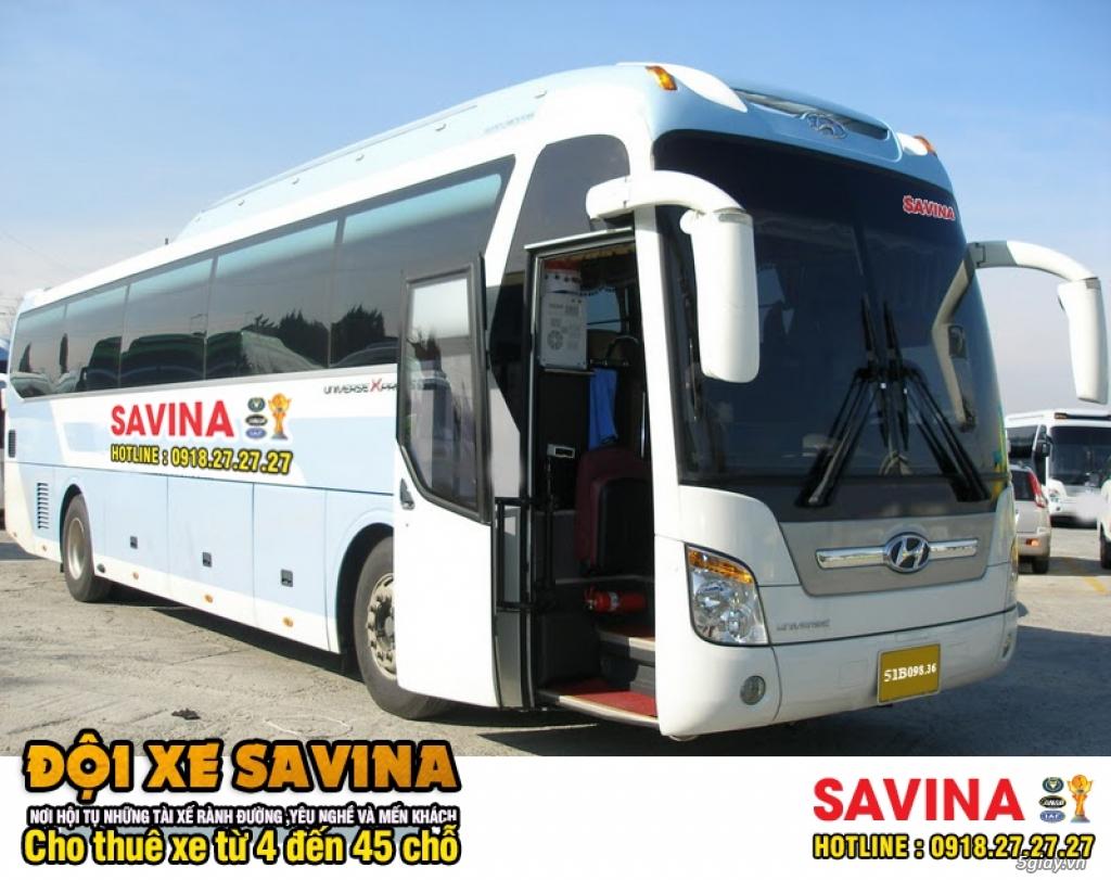 Cho thuê xe du lịch 16 chỗ, 45 chỗ tphcm | Savina - 3