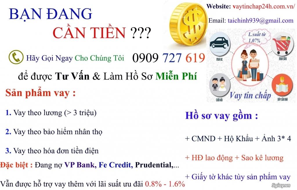 Vay tín chấp MCredit, VP Bank, Prudential, Fe Credit. Ls 0.83 % --1.6%