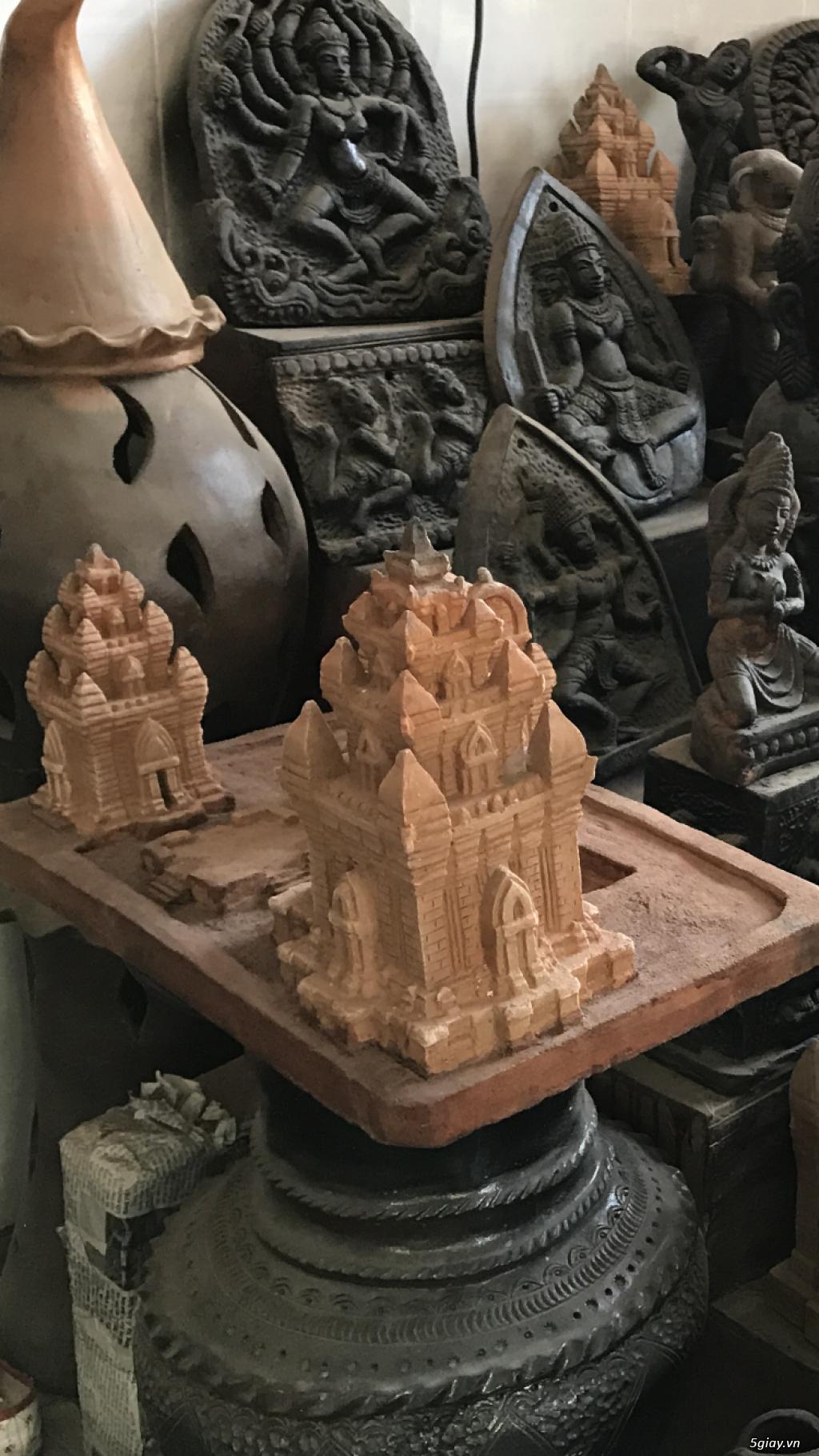 Mô hình tháp chăm gốm Bàu Trúc Ninh Thuận - 2