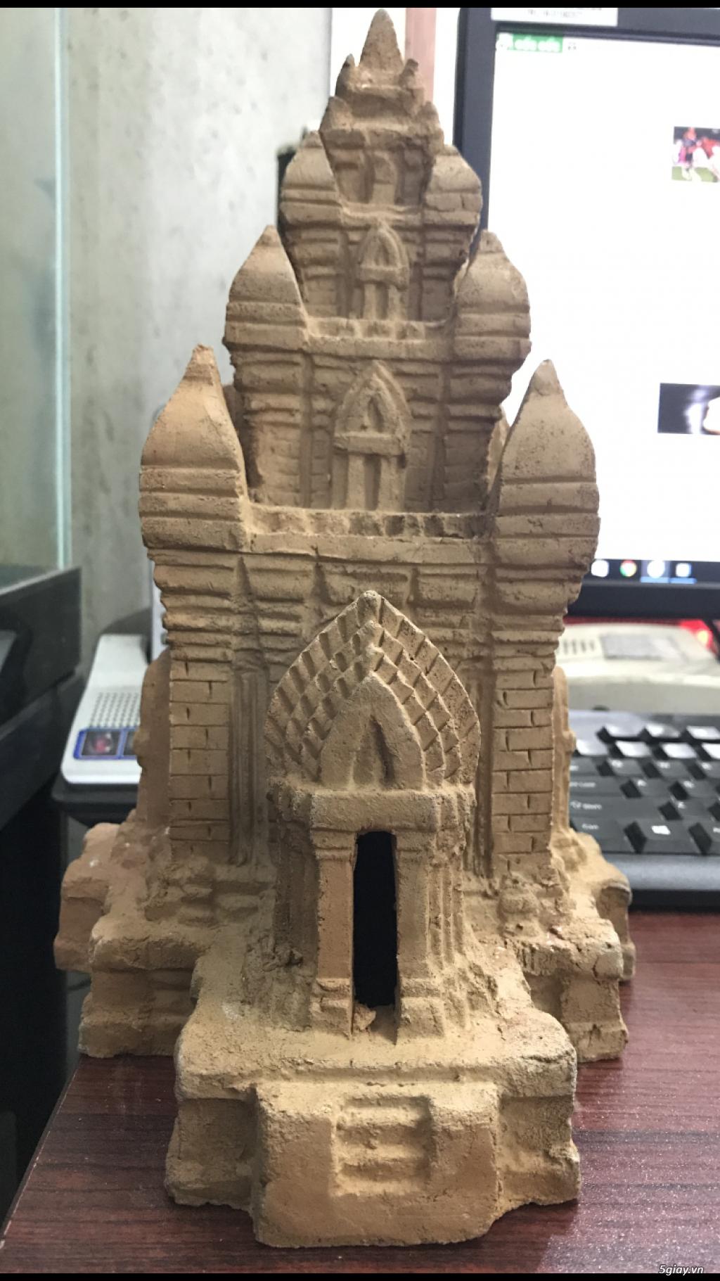 Mô hình tháp chăm gốm Bàu Trúc Ninh Thuận - 3