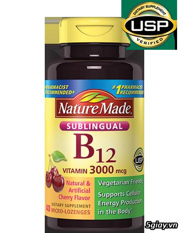 Vitamin B12 Nature Made® 3000 mcg của Mỹ
