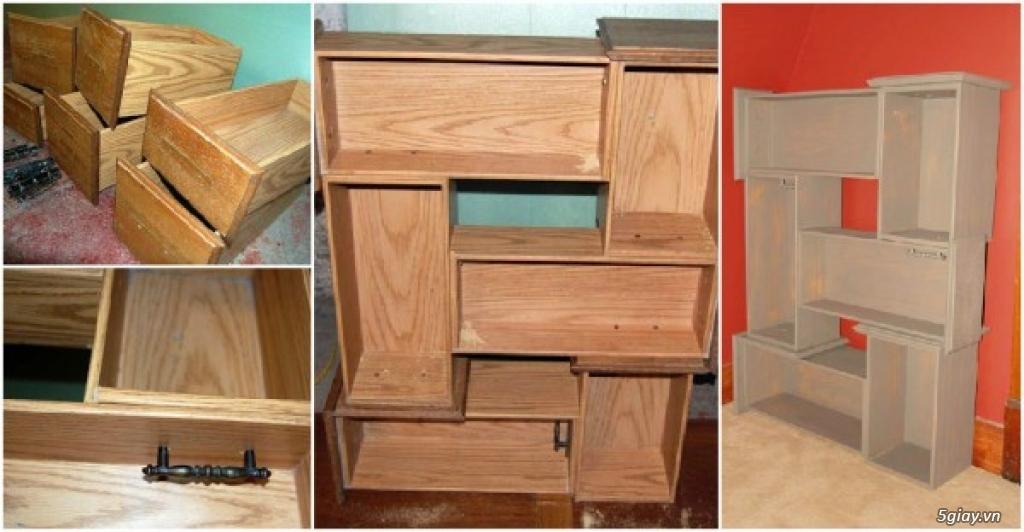 Ý tưởng sáng tạo tận dụng những chiếc ngăn kéo tủ cũ - 197516