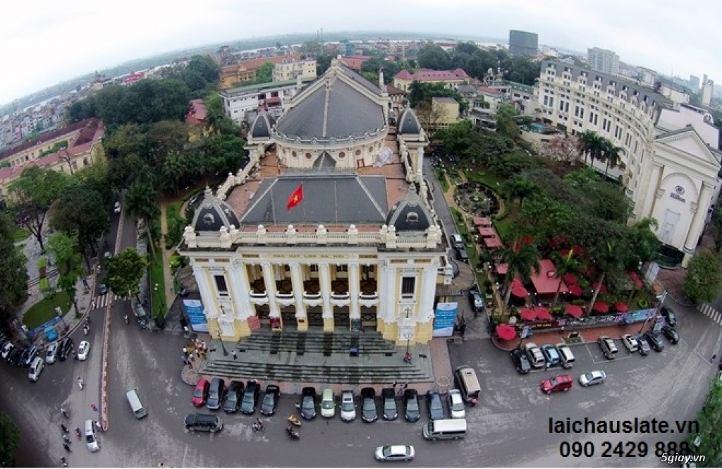 đá lai châu trên nhà hát lớn Hà Nội