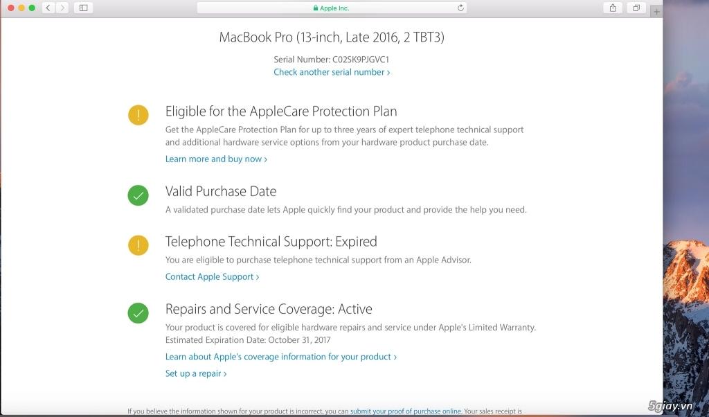 Macbook Pro Retina 13 2016 MLL42 - Likenew giá cực tốt đây......... - 5