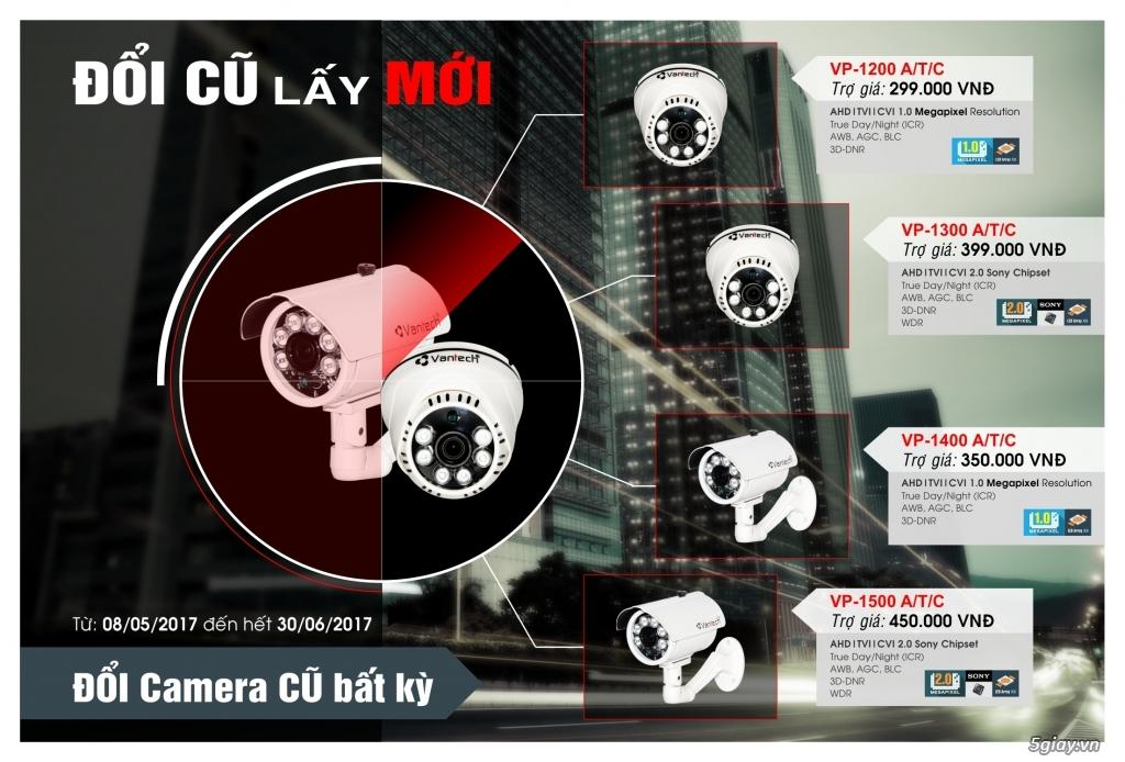 Đổi Camera cũ lấy mới chất lượng full HD,2 megapixel giá chỉ 399k