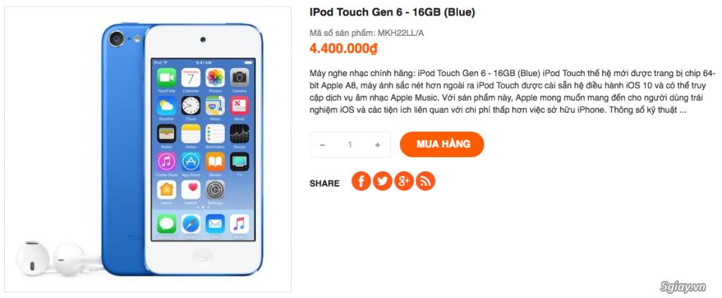 Topic chuyên iPod: Nano, Shuffle, Touch - New Seal chưa Active Giá Rẻ - 3