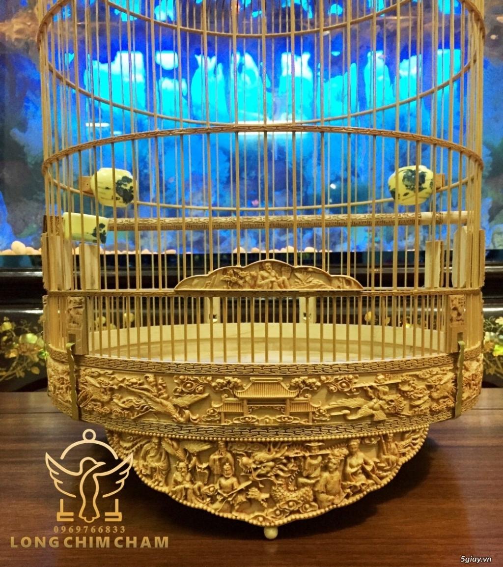 Lồng chim chạm, lồng chào mào chạm bát tiên, lồng chim giá rẻ - 3