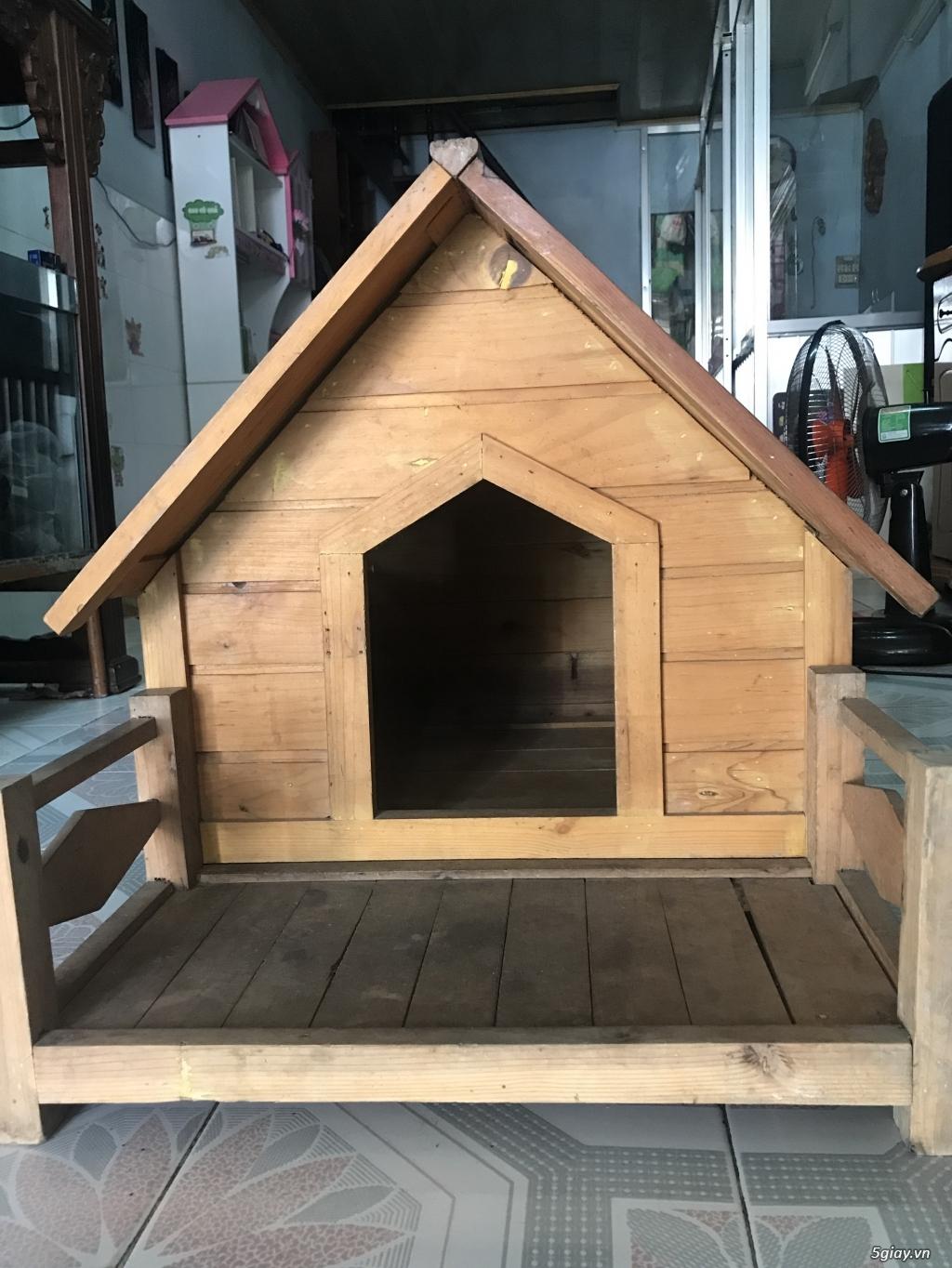 Thanh lý chuồng gỗ nuôi chó , mèo , new 95% giá tốt - 3