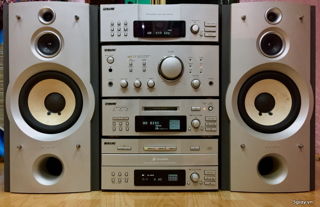 Dàn SONY MD77 made in JaPan 4 thớt rời cao cấp - 3