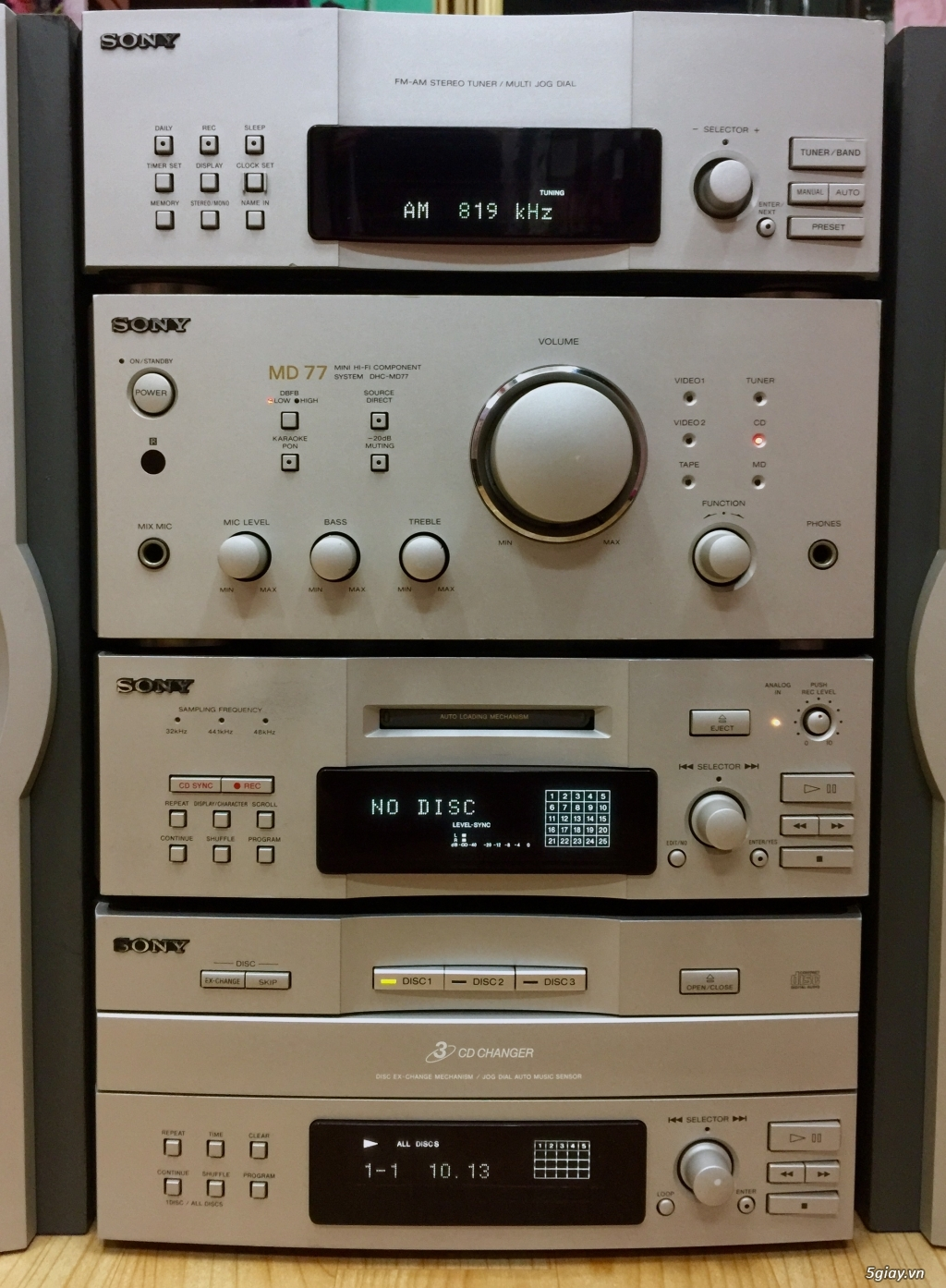 Dàn SONY MD77 made in JaPan 4 thớt rời cao cấp - 2