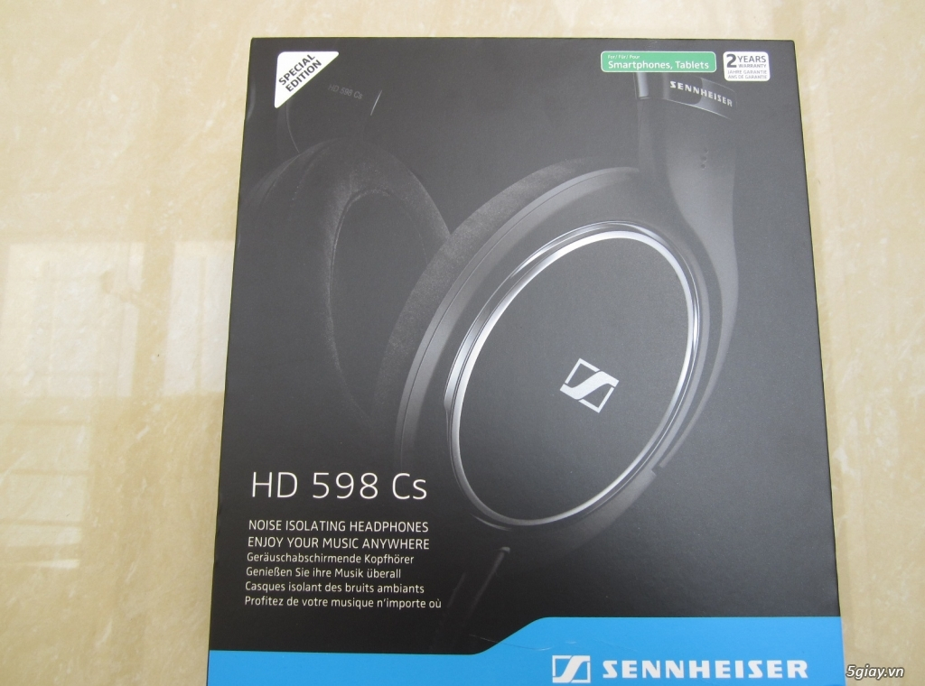 Tai Nghe Sennheiser HD 598 CS, Fullbox, Nguyên Seal, 100% !!!