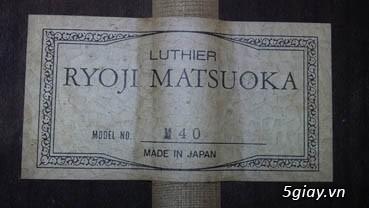 Matsouka guitar M 40, M 50, M60 Jacaranda, M 85 có EQ. MJ 30-8, GF 30 - 23